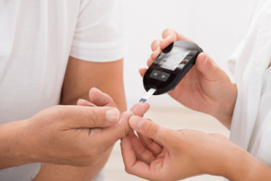 Finger blood test for diabetes