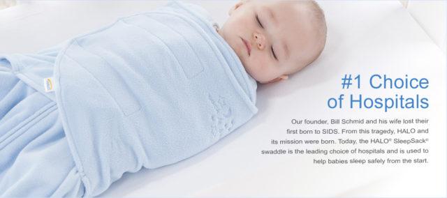 Newman Regional Health Halo Sleep Sack Swaddle Emporia