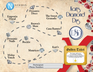 Kari's Diamond Dig Treasure Map